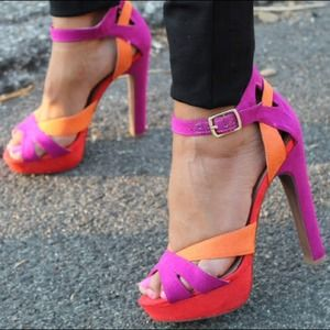 Sole Society Shoes - Sole Society Color-Block Heels