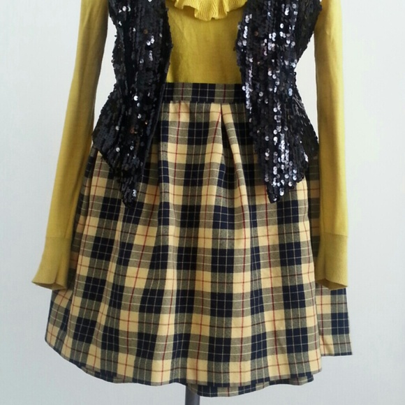 60% off Dresses & Skirts - *sold ebay* Clueless Yellow Plaid Skirt ...
