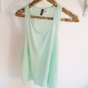 H&M Tops - Mint Green Racerback Tank