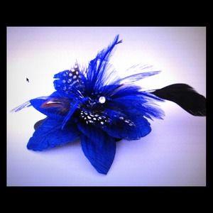 Accessories - Cobalt Blue & Black feathers head piece Bundle