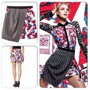 Peter Pilotto Floral Red Skirt, Size 4,6,8