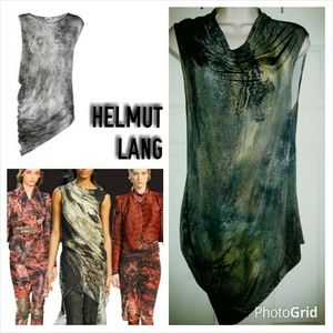 Helmut Lang Oxide Twisted Mini Dress Top