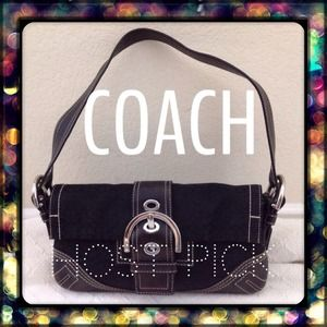 Coach Handbags - 🎉Mini Signature Flap Soho Handbag