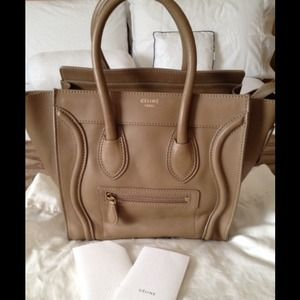 celine leather bags - 25% off Celine Handbags - Authentic Celine micro luggage from K's ...