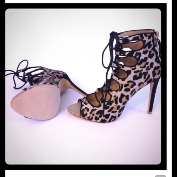 100% off Zara Boots - Zara ISO🚫SHARE👆 leopard heels lace up from