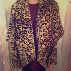 Faux Leopard Fur Asos Coat