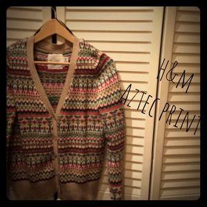 H&M Aztec print cardigan