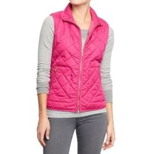 Old Navy Jackets & Blazers - Old Navy Pink Quilted Vest