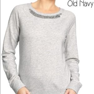 Old Navy Tops - Old Navy jeweled sweatshirt
