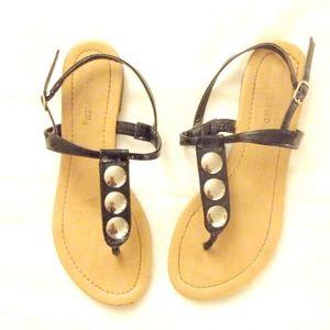Shoes - Black patent sandals