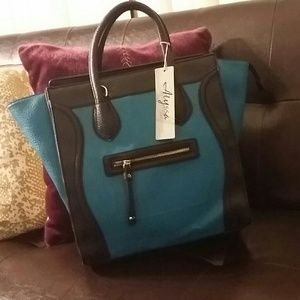 REDUCED! ! Blue Celine style purse