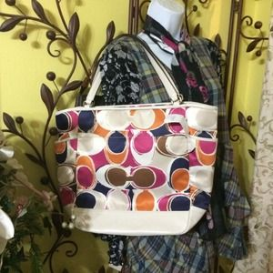 Coach Tote Multicolor NWT🌹SOLD🌹