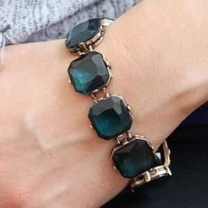NEW Lori Square Gem Bracelet in Teal