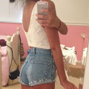 Urban Outfitters Lace Cropped Tank