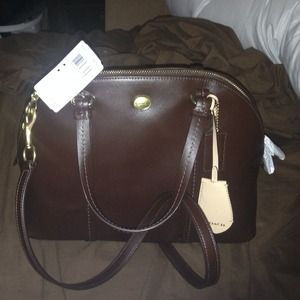 100% Authentic Coach Peyton Cora Leather Satchel