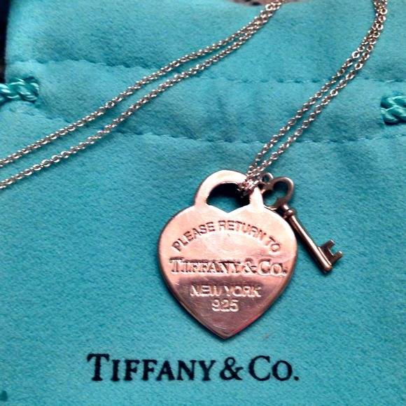 634d9b162288 ... Tiffany Heart Tag with Key Pendant!! M 5335d71be6ce2820ae04384d