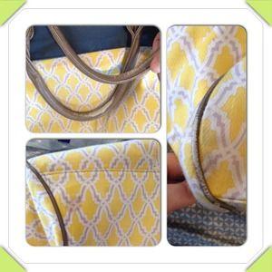 Deux Lux Bags - Deux Lux yellow print bag