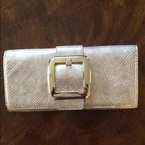 Michael Kors Gold Metallic Clutch