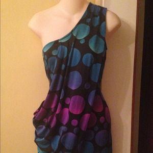 Diane von Furstenberg Dresses - Diane Von Furstenberg DVF calypso dot draped dress