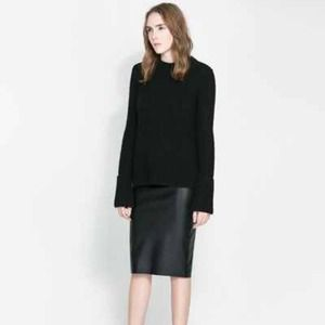 ZARA Black Sweater with side slits