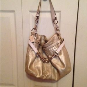 Auth Gold Coach Bag
