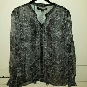 Christian Siriano Tops - Striking Christian Siriano sheer blouse