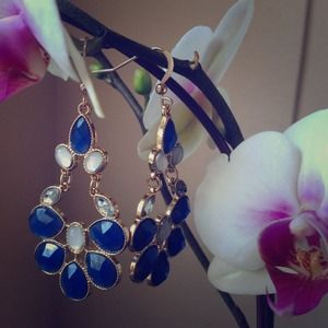 Jewelry - Blue Two Tone Summer Chandeliers