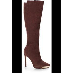 Rachel Roy suede platform Giselle boots sz 8