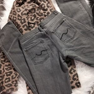 ⚡️ 7fam Grey Straight Leg Jeans