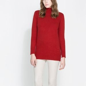 ZARA Angora Funnel Neck Sweater