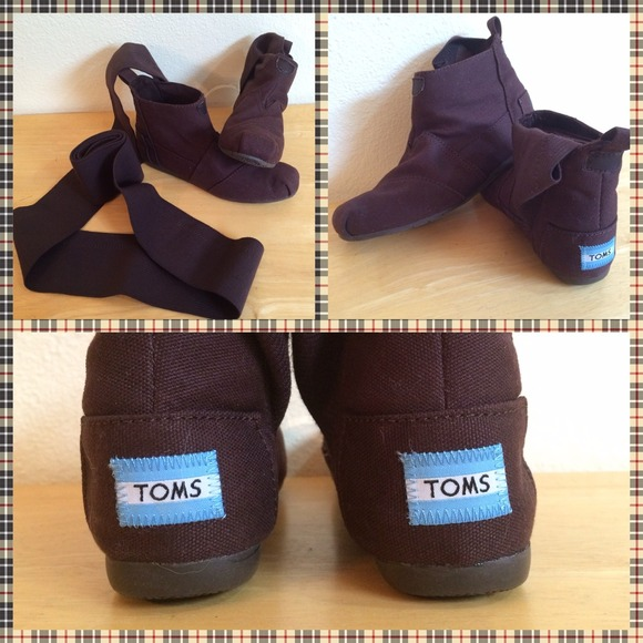 toms toms brown s wrap boots botas shoes from