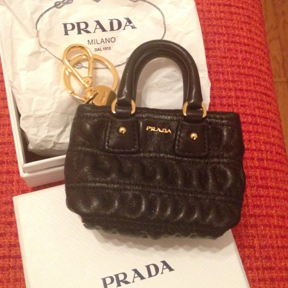 ab0060c2fffb ... clearance sold auth prada mini bag keychain ba0b4 2e8d3 ...