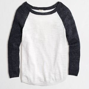 J. Crew Sweaters - Host Pick!❤️NWT J. Crew Linen Baseball Sweater