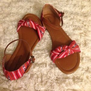 Mossimo red sandals, 8, fits like 9