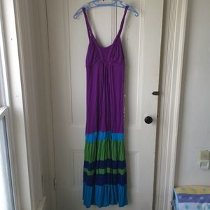 Colorful Maxi Jersey Knit Like New Sz Med