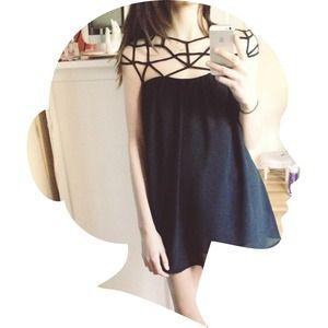 Little black chiffon dress
