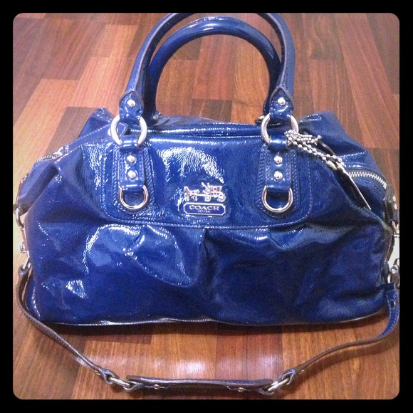 85% off Coach Handbags - Coach Sabrina Satchel-Cobalt Blue Patent ...
