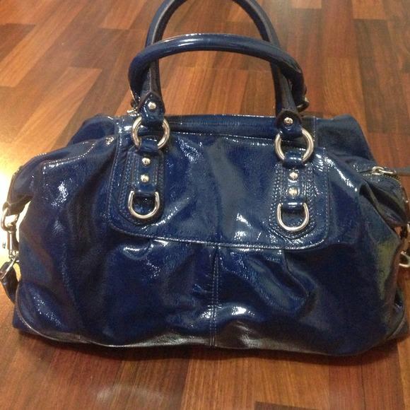 85% off Coach Handbags - Coach Sabrina Satchel-Cobalt Blue Patent ...