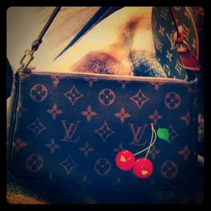 Limited edition cherry LV petite shoulder bag