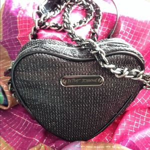 Betsey Johnson Heart Crossbody