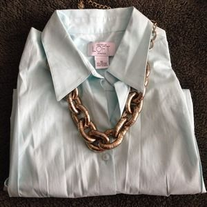 Ann Taylor Tops - Soft Mint Sleeveless button-up Shirt -size 10 NWOT