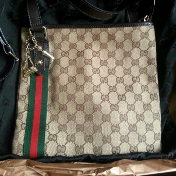9346f1d95 Gucci Bags | Gg Canvas Crossbody Bag | Poshmark