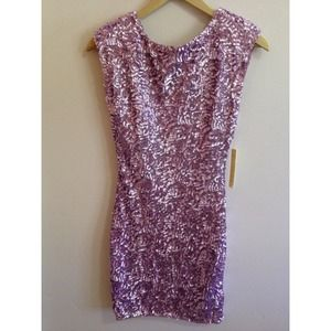 Alice + Olivia sequin dress with keyhole back