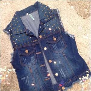 Dark Wash Denim Vest