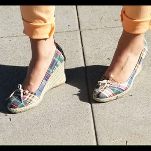 Tommy Hilfiger Shoes - Plaid wedge heels