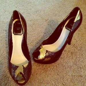 Christian dior snake skin pumps