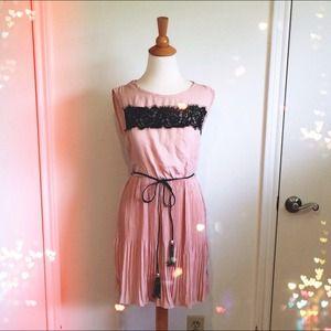 Dresses & Skirts - SALE Blush Chiffon Dress + Tassel