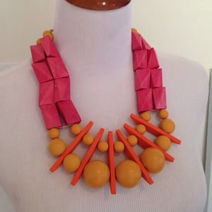 David Aubrey Wood Bead Necklace