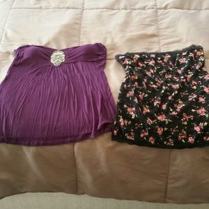 Tops - Two tube tops never worn