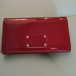 Kate Spade patent leather red wallet